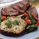 Grilled Lamb with Stuffed Mushroom