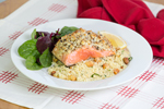 Macadamia crusted Salmon with Macadamia Couscous