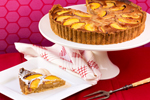 Nectarine and Macadamia Tart