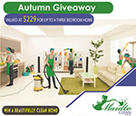 Win a beautifully cleaned home