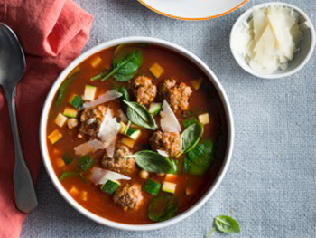 Meatball & Chickpea Soup