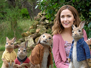 Rose Byrne & James Corden Peter Rabbit