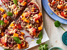 The Greatest Middle Eastern Beef and Pine Nut Pizza