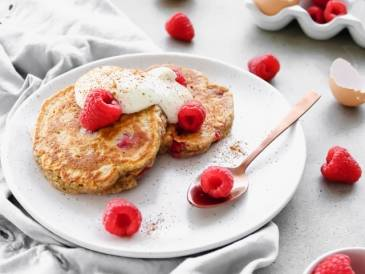 Raspberry and Pear Pancakes