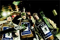 Australian Russ Henshaw won 2nd place at Red Bull Playstreets slopestyle skiing