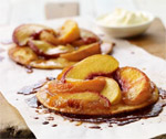Sticky Caramelised Peach Tarts