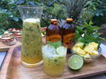 Spicy Pineapple Ginger Mint Punch