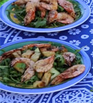 Barbecue Prawn Summer Salad