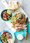 Marinated Butterflied Boneless Lamb Shoulder in Lemon and Parsley